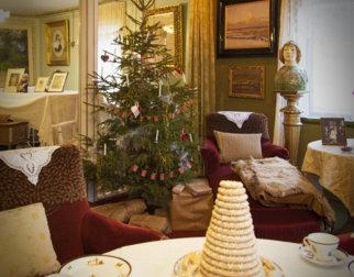 Julepyntet i på Aulestad, hjemmet til Bjørnstjerne Bjørnson.
