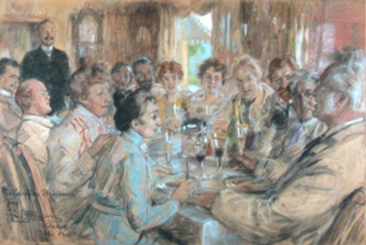 Familiemiddag, maleri av Krøyer