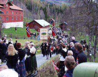 17. mai tog på Aulestad