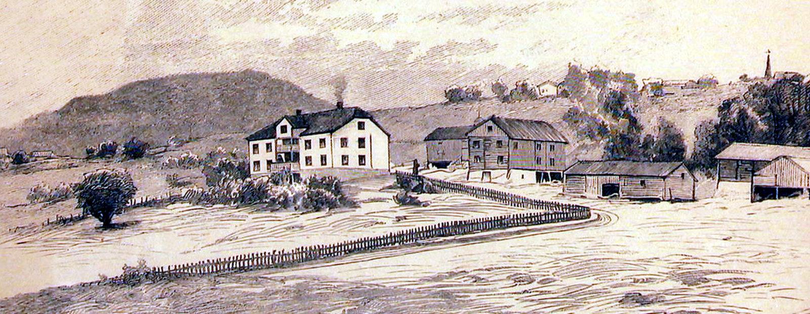Aulestad på 1890-tallet.